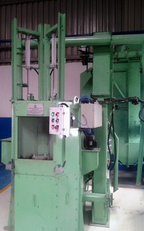 Rotary Indexing Type Air Operated Blasting Machine