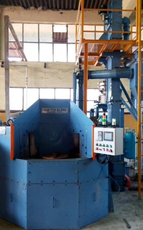 Rotary Indexing Type Air Operated Peening Machine for 2 Wheelers Gears
